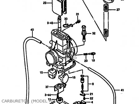 Suzuki Rm250 1987 h Carburetor model H