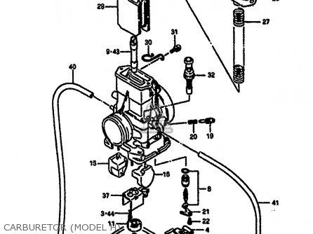 Suzuki Rm250 1987 h Carburetor model H