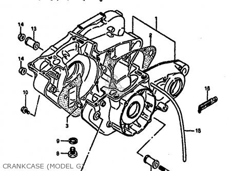 Suzuki Rm250 1987 h Crankcase model G