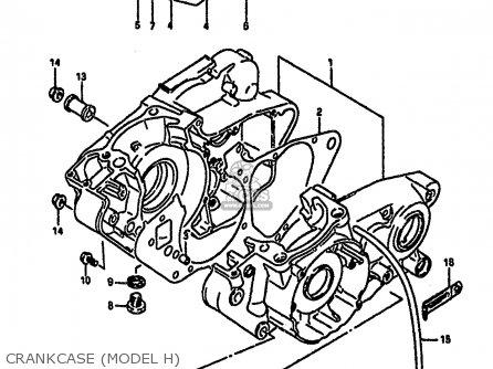 Suzuki Rm250 1987 h Crankcase model H