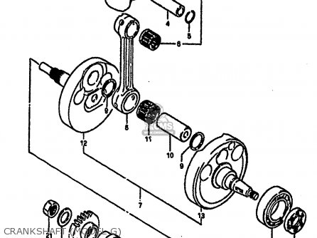 Suzuki Rm250 1987 h Crankshaft model G