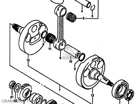 Suzuki Rm250 1987 h Crankshaft model H