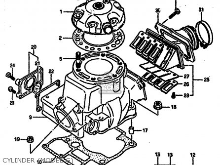 Suzuki Rm250 1987 H Parts Lists And Schematics