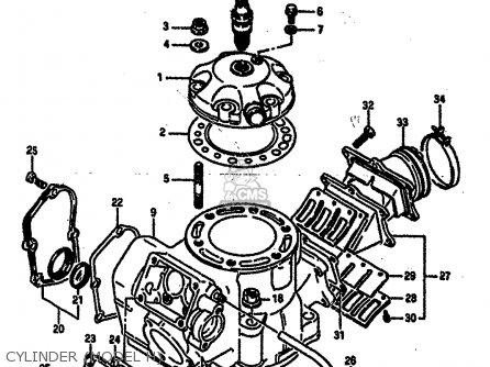 Suzuki Rm250 1987 h Cylinder model H