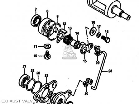 Suzuki Rm250 1987 h Exhaust Valve model G
