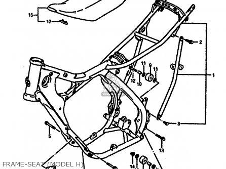 Suzuki Rm250 1987 h Frame-seat model H