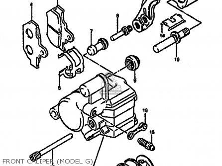 Suzuki Rm250 1987 h Front Caliper model G