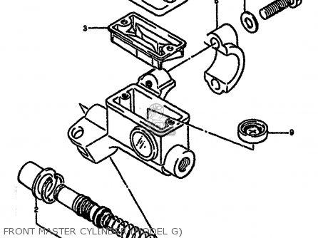 Suzuki Rm250 1987 h Front Master Cylinder model G
