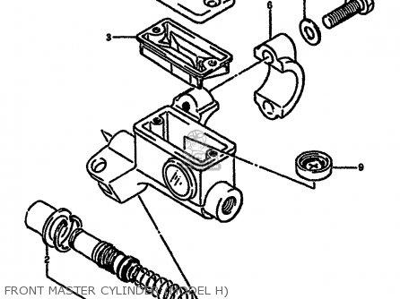 Suzuki Rm250 1987 h Front Master Cylinder model H