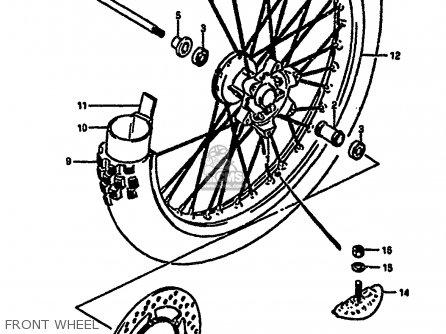 Suzuki Rm250 1987 h Front Wheel