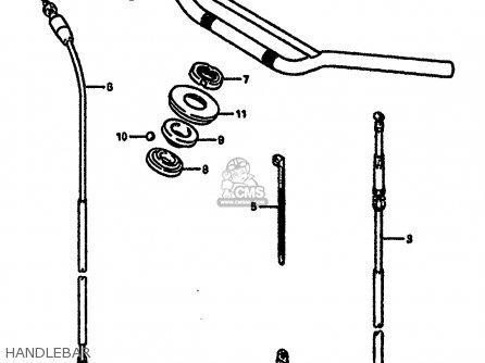 Suzuki Rm250 1987 h Handlebar