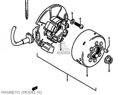 Suzuki Rm250 1987 h Magneto model H