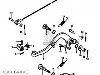 Suzuki Rm250 1987 h Rear Brake