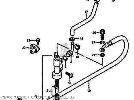 Suzuki Rm250 1987 h Rear Master Cylinder model H