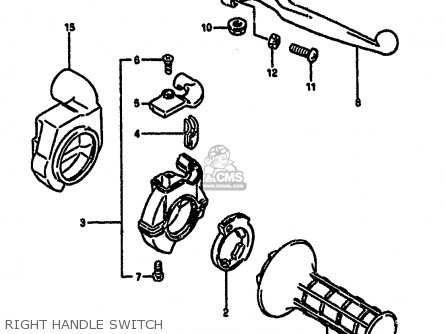 Suzuki Rm250 1987 h Right Handle Switch