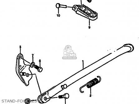 Suzuki Rm250 1987 h Stand-footrest