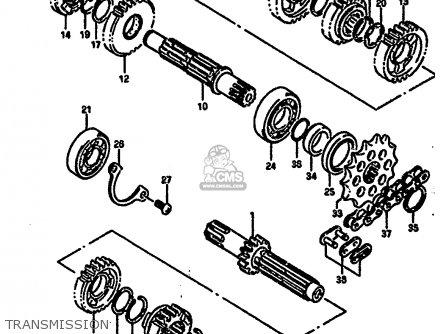 Suzuki Rm250 1987 h Transmission