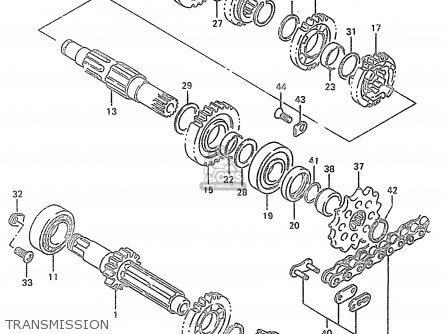 Suzuki RM250 1997 (V) (E02 E04 E24) TRANSMISSION