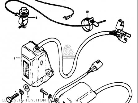 Suzuki Rm370 1976-1977 usa Cdi Unit - Ignition Coil