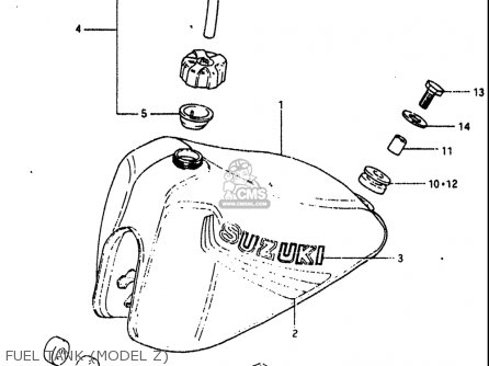Suzuki Rm60 1982-1983 usa Fuel Tank model Z