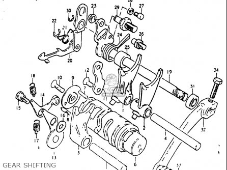 Suzuki Rm60 1982-1983 usa Gear Shifting
