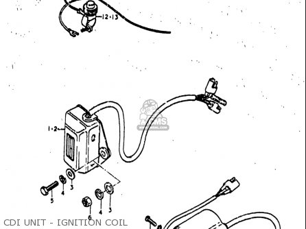 Suzuki Rm80 1977-1979 usa Cdi Unit - Ignition Coil