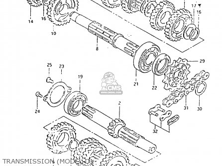 Suzuki Rm80 1984 he Transmission model D