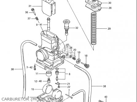 Suzuki Rm80 1986-1995 usa Carburetor model G h j