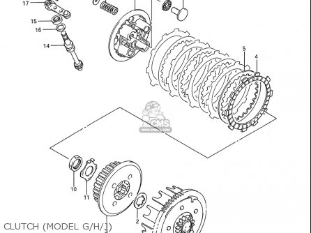 Suzuki Rm80 1986-1995 usa Clutch model G h j
