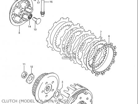 Suzuki Rm80 1986-1995 usa Clutch model K l m n p r s