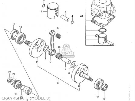 Suzuki Rm80 1986-1995 usa Crankshaft model J