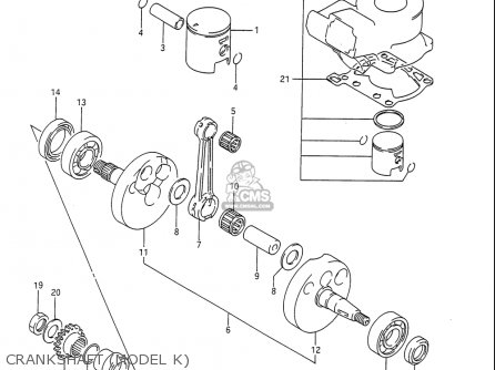 Suzuki Rm80 1986-1995 usa Crankshaft model K