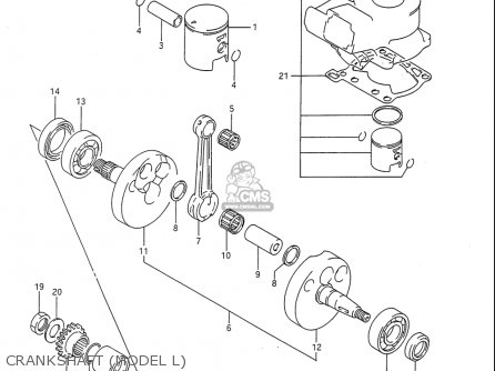Suzuki Rm80 1986-1995 usa Crankshaft model L