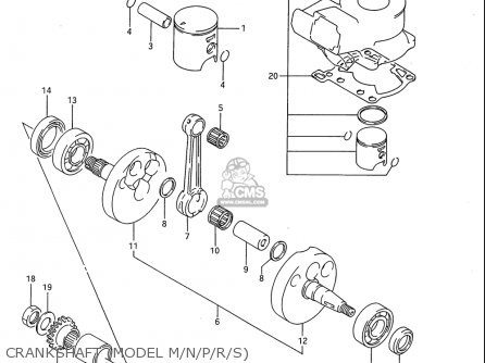 Suzuki Rm80 1986-1995 usa Crankshaft model M n p r s