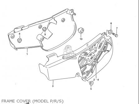 Suzuki Rm80 1986-1995 usa Frame Cover model P r s