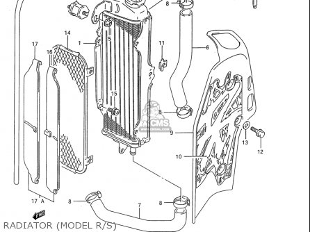 Suzuki Rm80 1986-1995 usa Radiator model R s