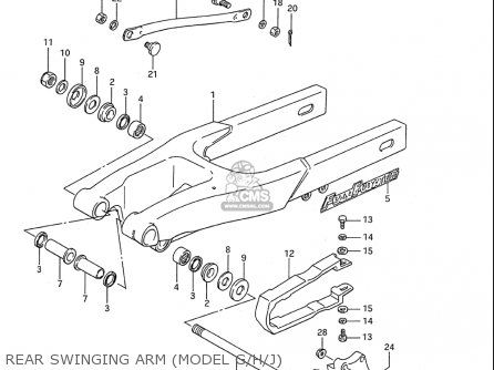 Suzuki Rm80 1986-1995 usa Rear Swinging Arm model G h j