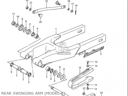 Suzuki Rm80 1986-1995 usa Rear Swinging Arm model K