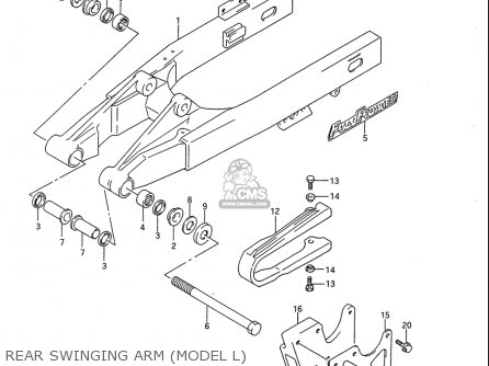Suzuki Rm80 1986-1995 usa Rear Swinging Arm model L