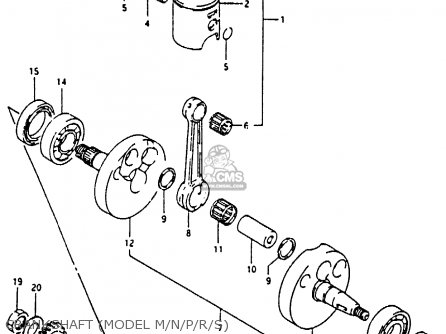 Suzuki Rm80 1988 xj Crankshaft model M n p r s