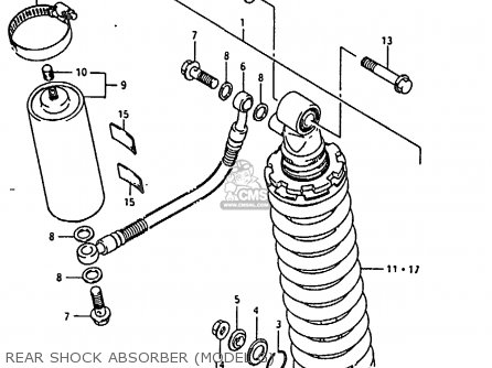 Suzuki Rm80 1988 xj Rear Shock Absorber model G
