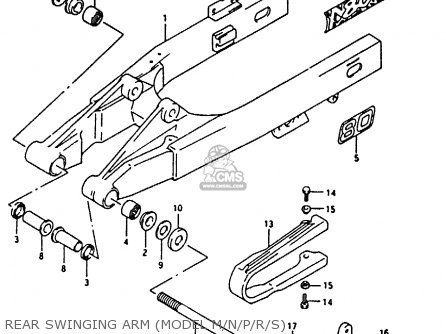 Suzuki Rm80 1988 xj Rear Swinging Arm model M n p r s