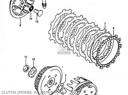 Suzuki Rm80 1994 xr Clutch model K l m n p r s