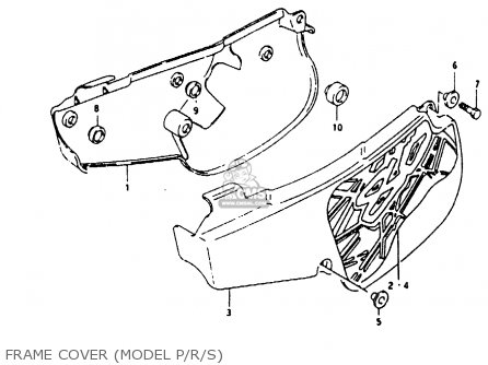 Suzuki Rm80 1994 xr Frame Cover model P r s