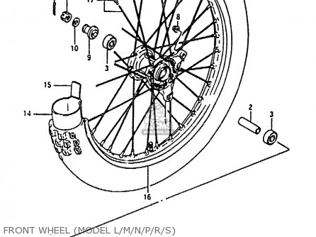 Suzuki Rm80 1994 xr Front Wheel model L m n p r s