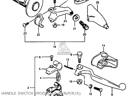 Suzuki Rm80 1994 xr Handle Switch model K l m n p r s
