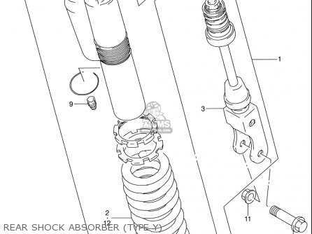 Suzuki Rm80 2000-2001 usa Rear Shock Absorber type Y