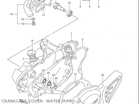 Suzuki Rm85  l usa Crankcase Cover- Water Pump