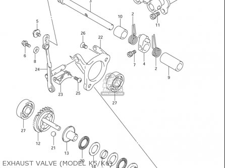 Suzuki Rm85  l usa Exhaust Valve model K5 k6