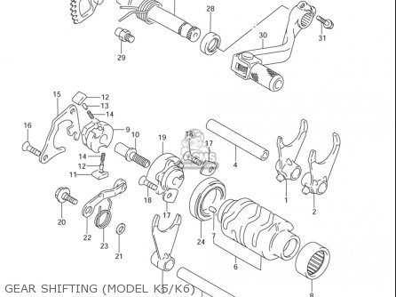Suzuki Rm85  l usa Gear Shifting model K5 k6